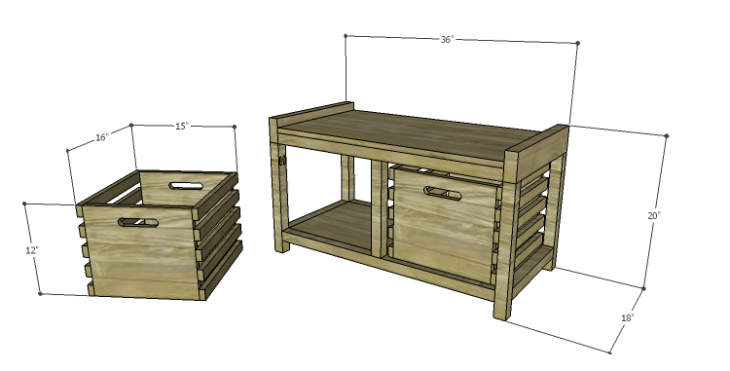 DIY Plans to Build a Laura Storage Bench