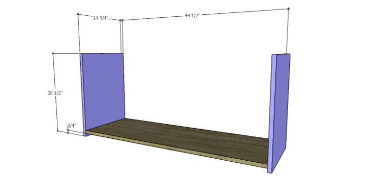 DIY Plans to Build a Maxwell Shoe Storage Bench_Bottom & Sides