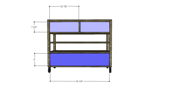 DIY Plans to Build a River Crest Media Chest_Drawer Fronts