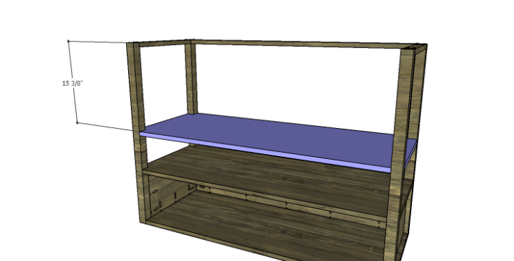 DIY Plans to Build a River Crest Media Chest_Middle Shelf