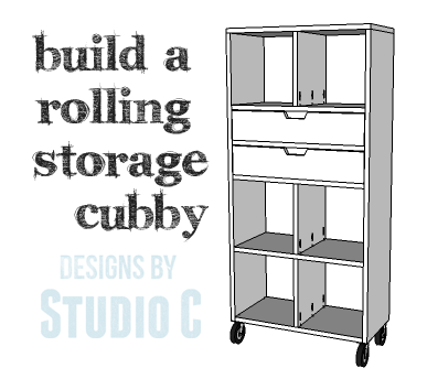 DIY Plans to Build a Rolling Storage Cubby_Copy