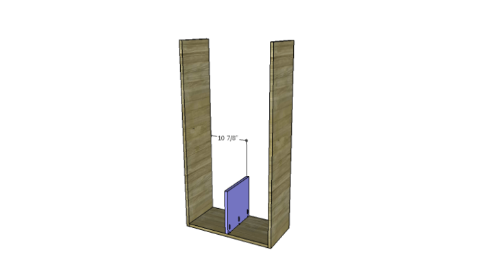 DIY Plans to Build a Rolling Storage Cubby_Lower Divider