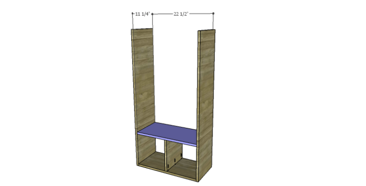 DIY Plans to Build a Rolling Storage Cubby_Shelves 1