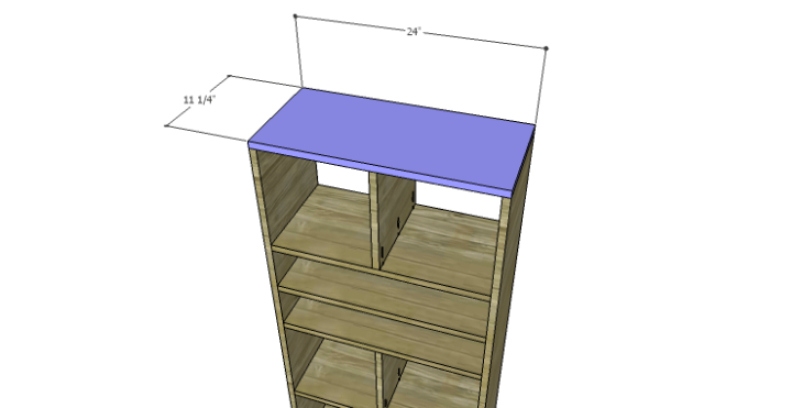 DIY Plans to Build a Rolling Storage Cubby_Top