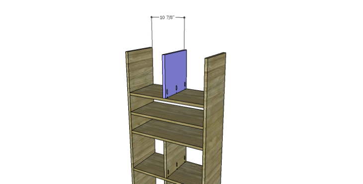DIY Plans to Build a Rolling Storage Cubby_Upper Divider