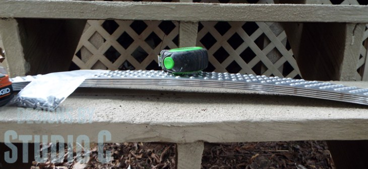 Installing Handi-Treads on Exterior Stairs bow
