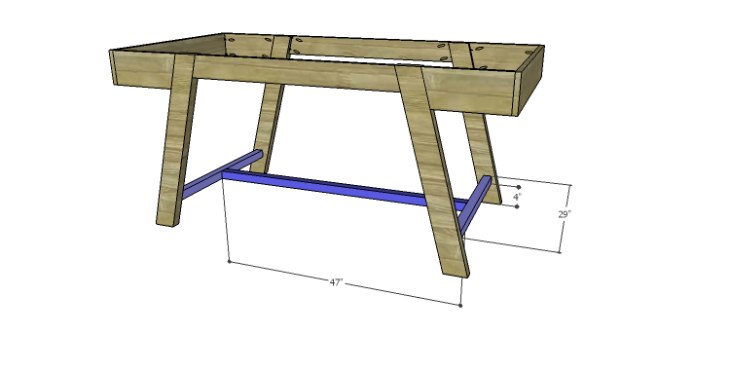 DIY Plans to Build a Wyatt Writing Desk_Lower Bracing