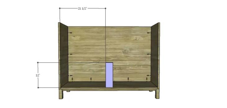 DIY Plans to Build a Mismatched Dresser_Lower Divider