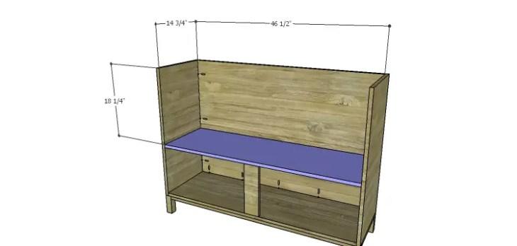 DIY Plans to Build a Mismatched Dresser_Middle Shelf