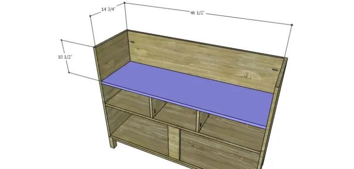 DIY Plans to Build a Mismatched Dresser_Upper Shelf