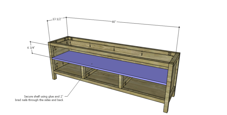 DIY Plans to Build a Jamie Media Console_Shelf