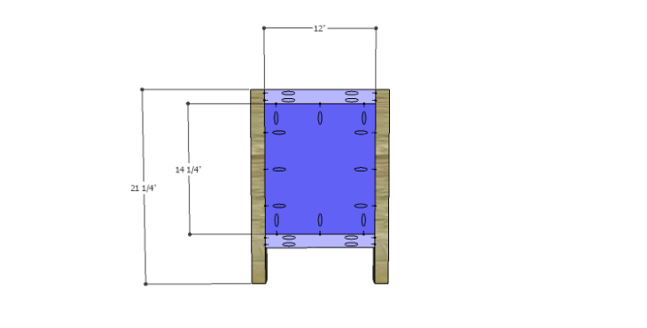 DIY Plans to Build a Jamie Media Console_Sides