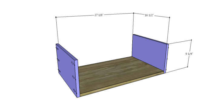 DIY Plans to Build a Forester Sideboard_Drawer BS