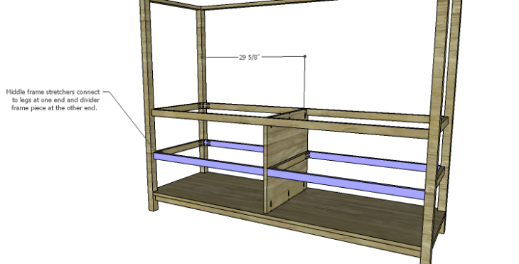 DIY Plans to Build a Forester Sideboard_Middle Frame Stretchers