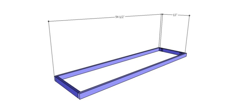 DIY Plans to Build a Cato Sideboard_Shelf Frame 1