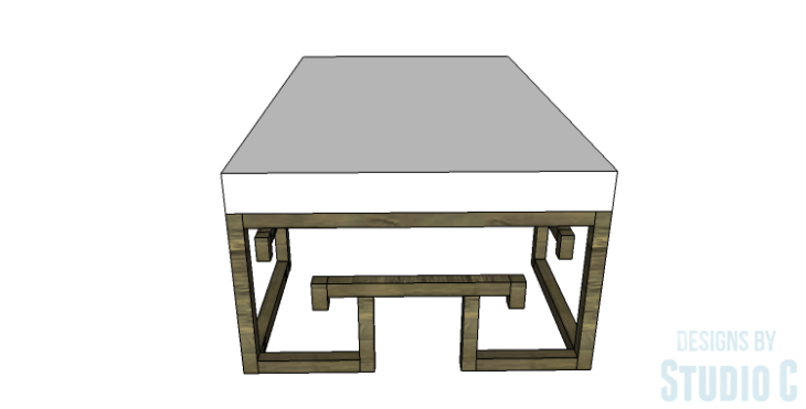 DIY Plans to Build a Lilley Bench_Side View