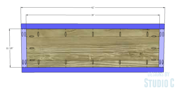 DIY Plans to Build a Slatted Hall Bench_Seat 1
