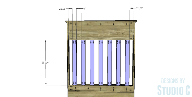 DIY Plans to Build a Slatted Hall Bench_Slats