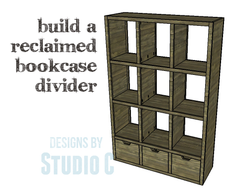 A Collection of DIY Plans to Build Bookcases_Reclaimed Bookcase