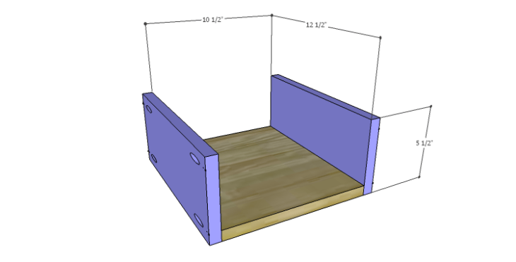 DIY Plans to Build a Daisy Bookcase_Drawer BS
