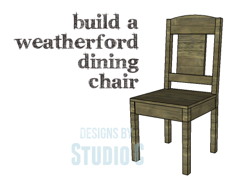 An easy chair to build just in time for holiday for Simple dining chair designs