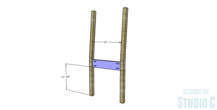 DIY Plans to Build a Weatherford Dining Chair_Back Frame