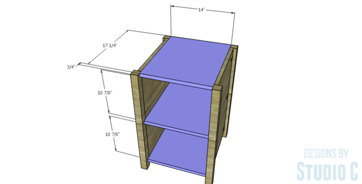 DIY Plans to Build a Connor Media Console_Center Shelves