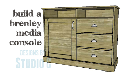 diy plans to build a brenley media console this media stand with its rustic look and large amount of storage is a supersimple build
