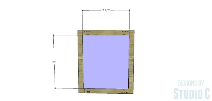 DIY Plans to Build a Brenley Media Console_Door Panel