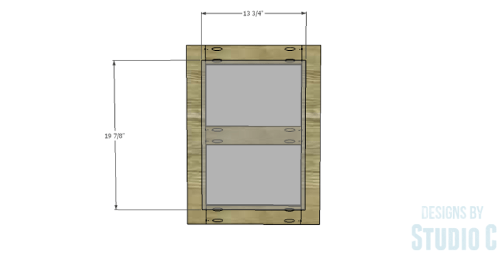 DIY Plans to Build a Connor Media Console_Door Panel