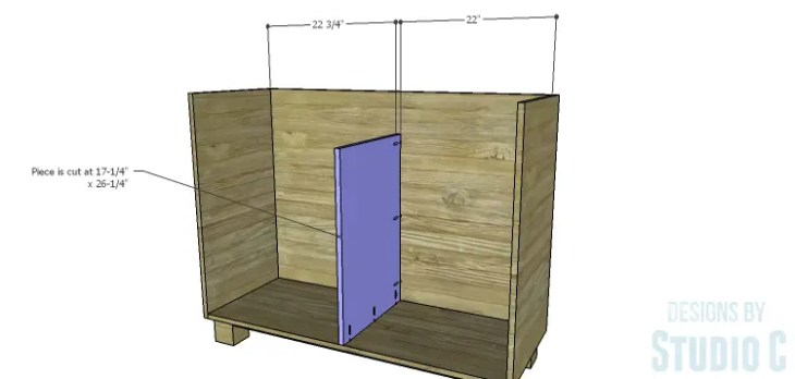DIY Plans to Build a Brenley Media Console_Lower Divider