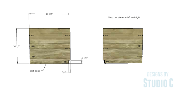 DIY Plans to Build a Connor Media Console_Shelves 1