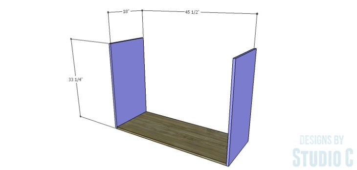 DIY Plans to Build a Brenley Media Console_Sides & Bottom