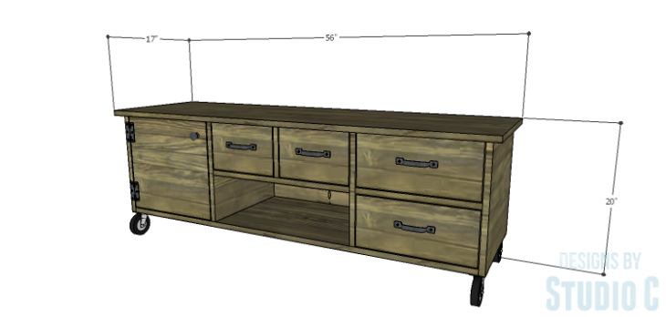 DIY Plans to Build an Ironton Media Console