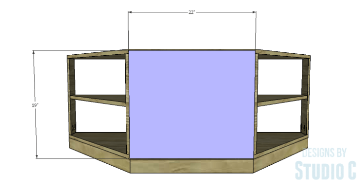 DIY Plans to Build a Rushton Media Stand_Back Center Panel