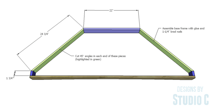 DIY Plans to Build a Rushton Media Stand_Base Frame