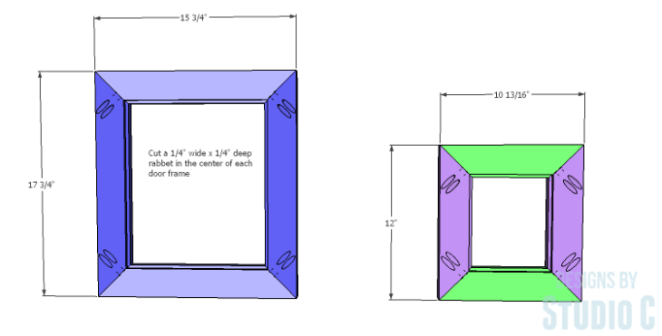 DIY Plans to Build a Rushton Media Stand_Door Frames
