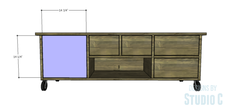 DIY Plans to Build an Ironton Media Console_Door