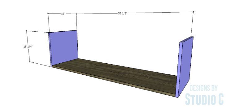 DIY Plans to Build an Ironton Media Console_Sides & Bottom