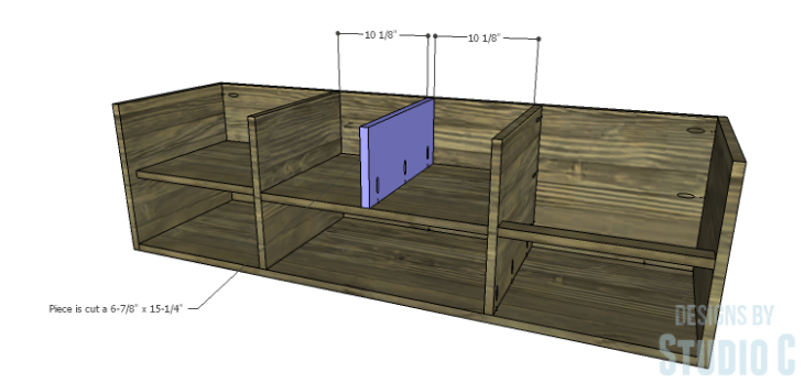 DIY Plans to Build an Ironton Media Console_Smaller Divider