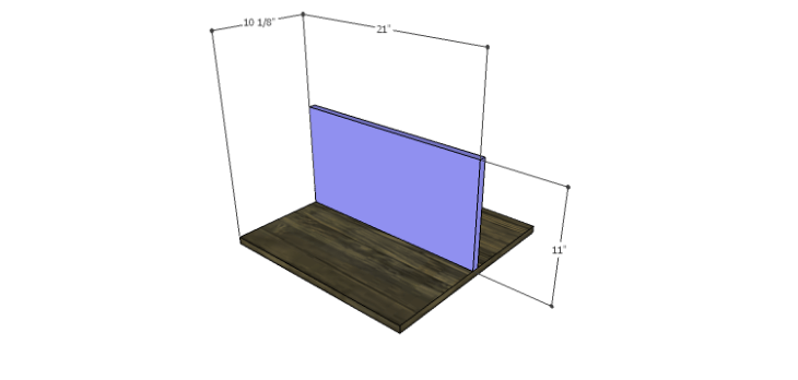 DIY Plans to Build a Warner Storage Shelf_Lower Divider 1