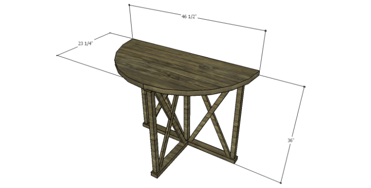 DIY Plans to Build a Davidson Console Table