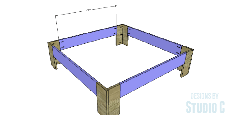 DIY Plans to Build a Mercer Coffee Table_Base Frame Stretchers