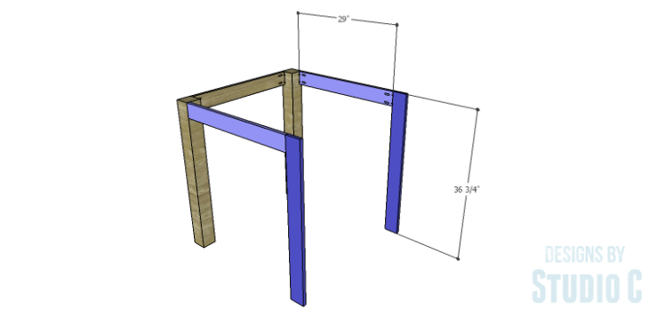 DIY Plans to Build a Storage Counter Height Table_FB Legs