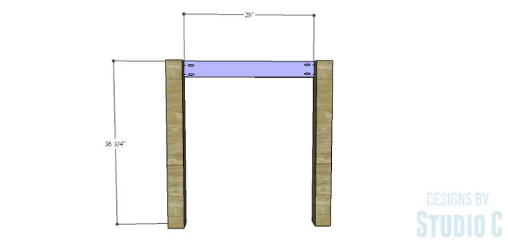 DIY Plans to Build a Storage Counter Height Table_Side