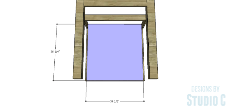 DIY Plans to Build a Storage Counter Height Table_Storage Back