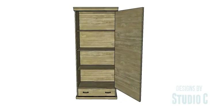 DIY Plans to Build a Single Door Armoire_Copy 2