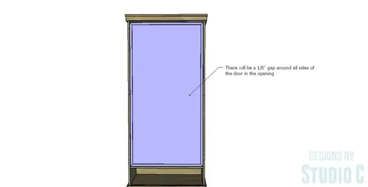 DIY Plans to Build a Single Door Armoire_Door 3