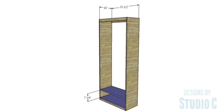 DIY Plans to Build a Single Door Armoire_Lower Shelves