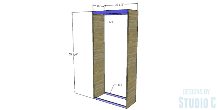 DIY Plans to Build a Single Door Armoire_Sides & Stretchers